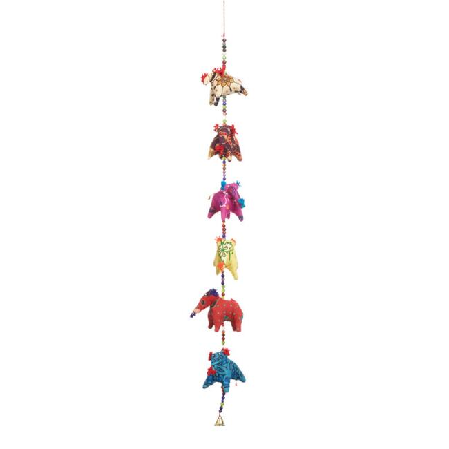 Fabric Elephants Hanging Decor