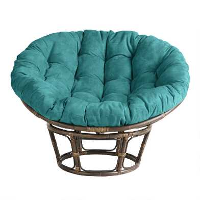 Teal Microsuede Papasan Chair Cushion