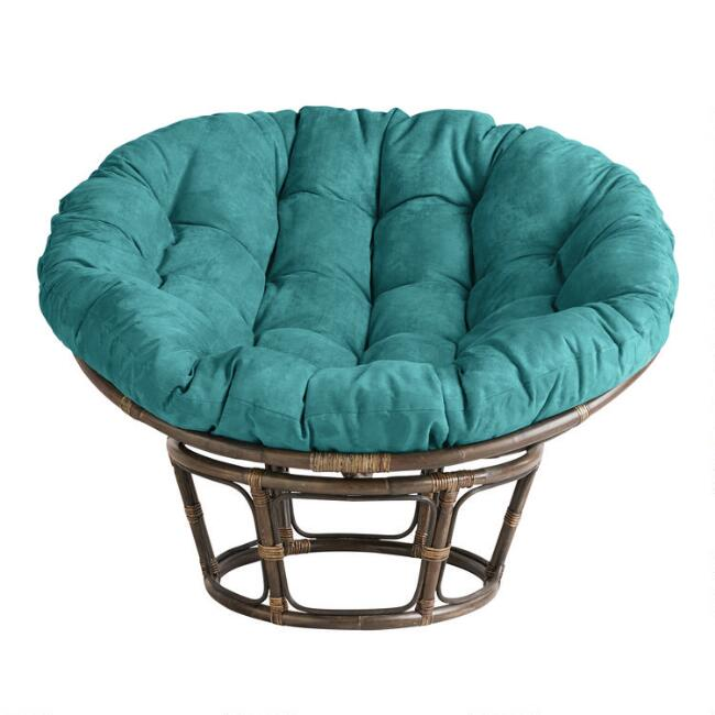 Porcelain Micro Suede Papasan Chair Cushion World Market