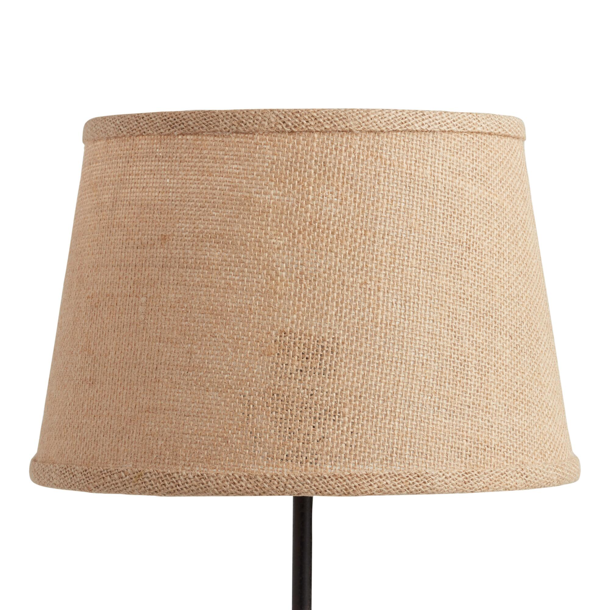 Natural Burlap Accent Lamp Shade - Natural Fiber by World Market