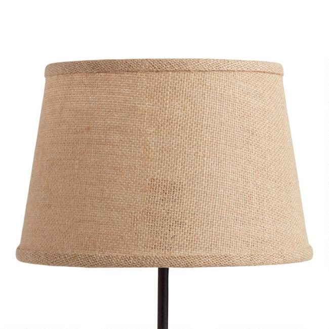 Natural burlap accent lamp shade world market aloadofball Gallery