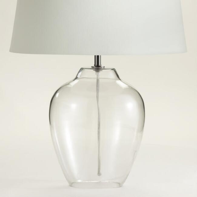 Clear glass table lamp base world market aloadofball Choice Image