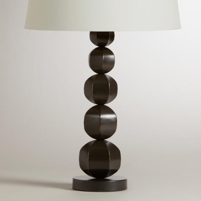 5-Ball Distressed Metal Table Lamp Base