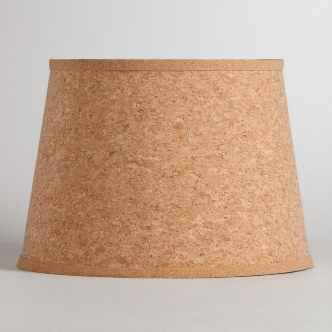 Natural cork table lamp shade world market aloadofball Images