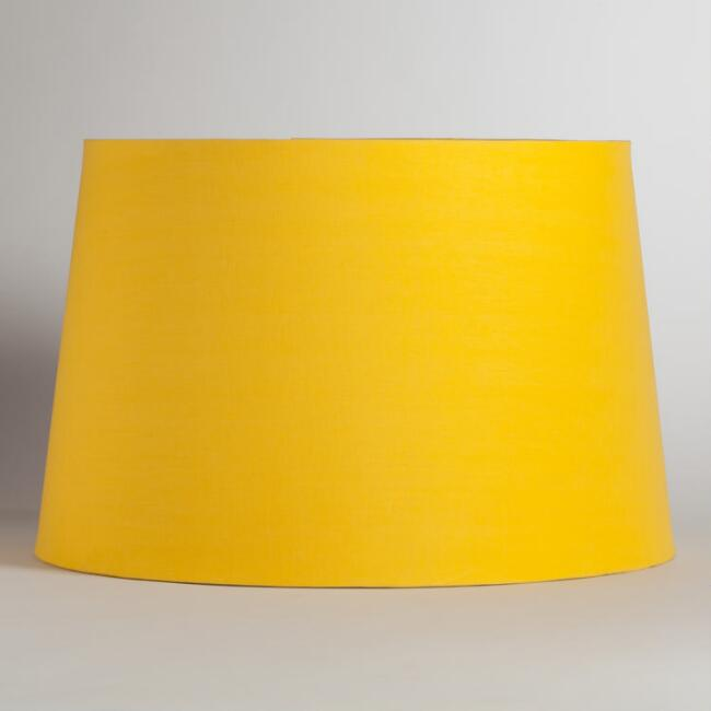 Yellow & Silver Embossed Floor Lamp Shade