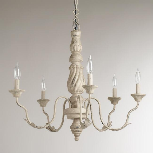 Gray vintage chandelier world market gray vintage chandelier aloadofball Choice Image