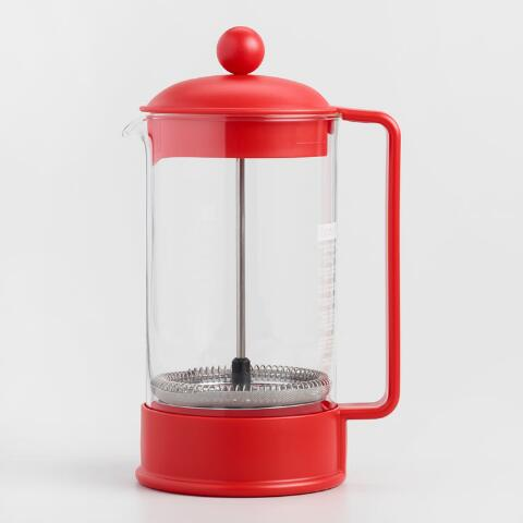 Pink French Press Coffee Maker : Red Bodum Brazil French Press Coffee Maker World Market
