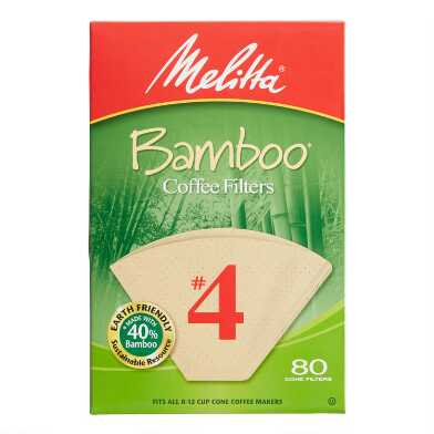 Bamboo No. 4 Cone Coffee Filters 80 Count