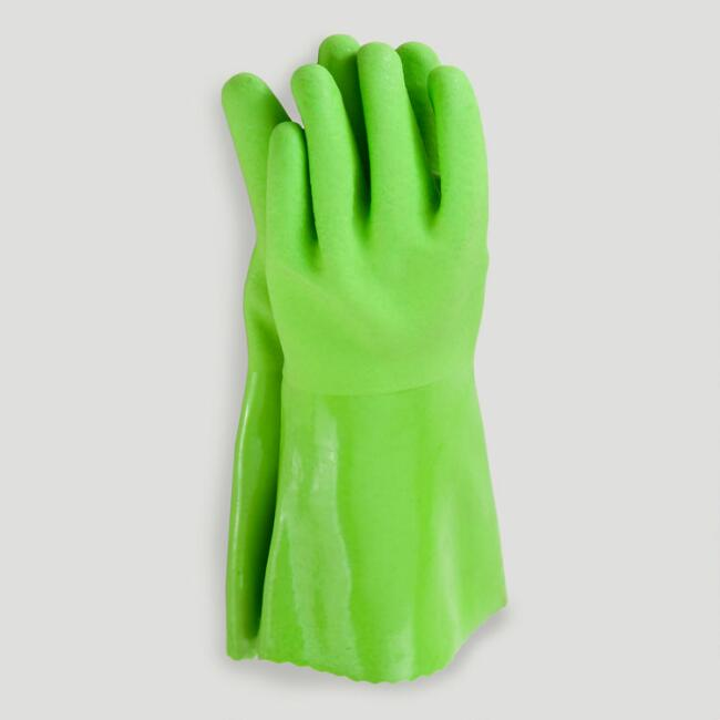 Green Medium Cleaning Gloves