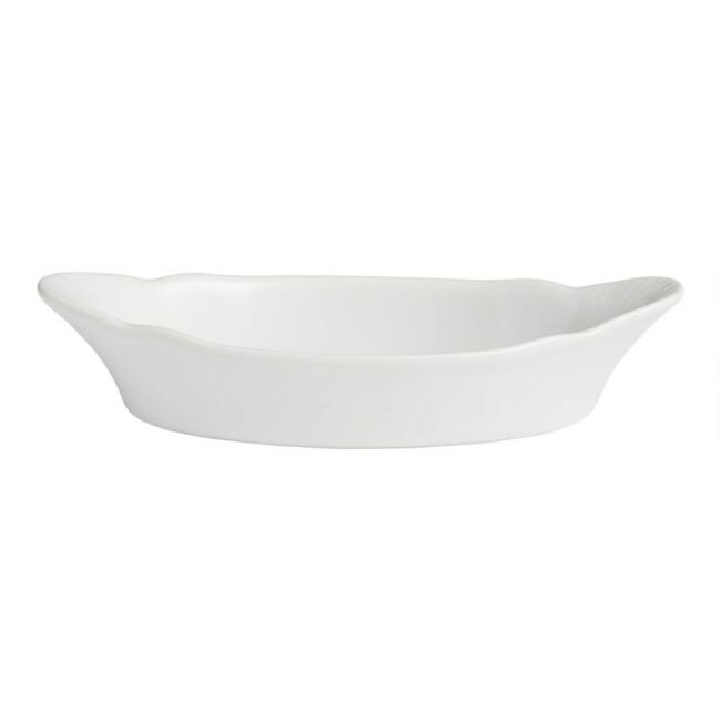 White Au Gratin Bakers, Set of 2