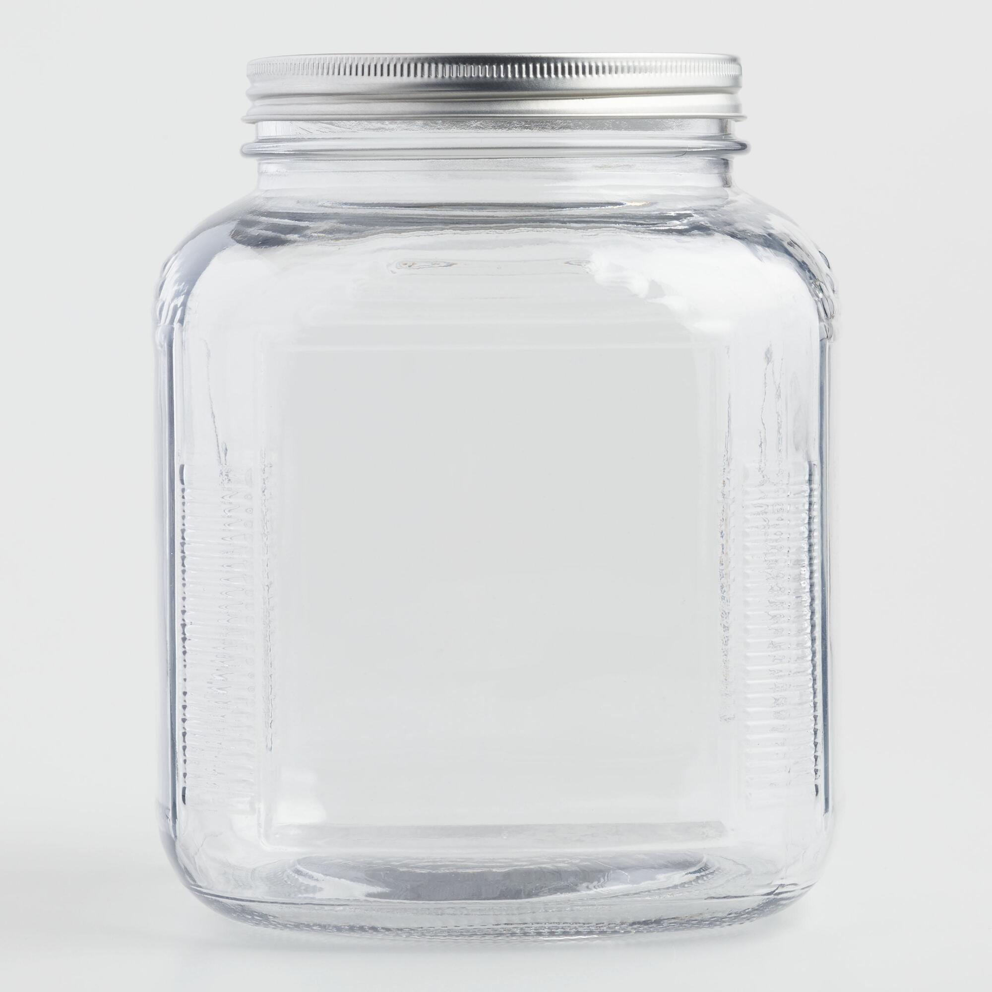 Glass Storage Jar with Aluminum Lid by World Market