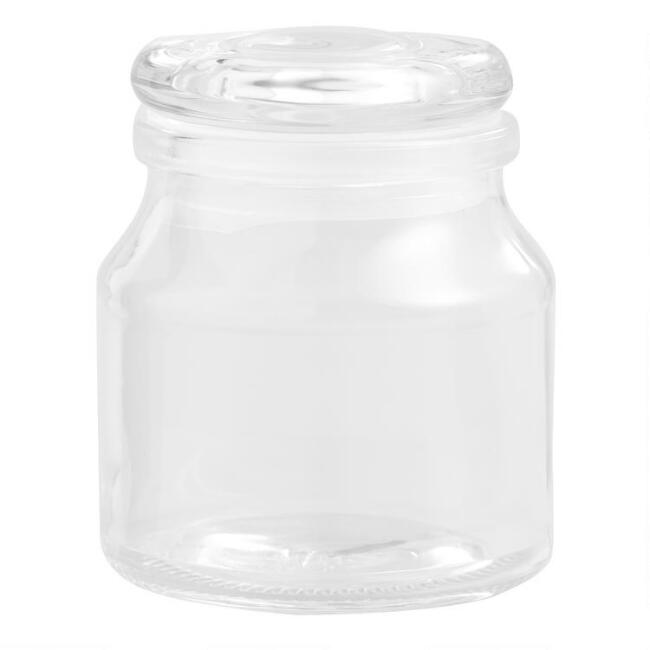Glass Spice Jars With Glass Lids Set Of 6
