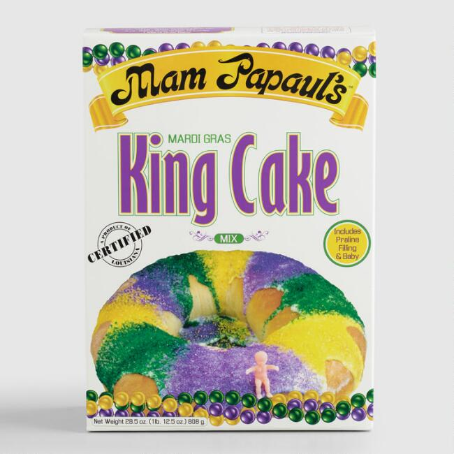 Mam Papaul's Mardi Gras King Cake Mix with Praline Filling