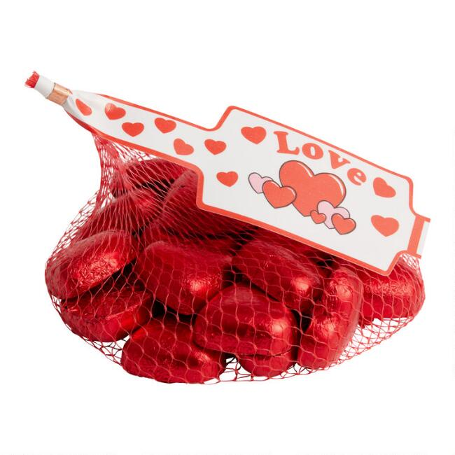 Laica Milk Chocolate Hearts in Mesh Bag