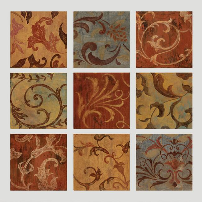 Patina Scrolls Wall Decal
