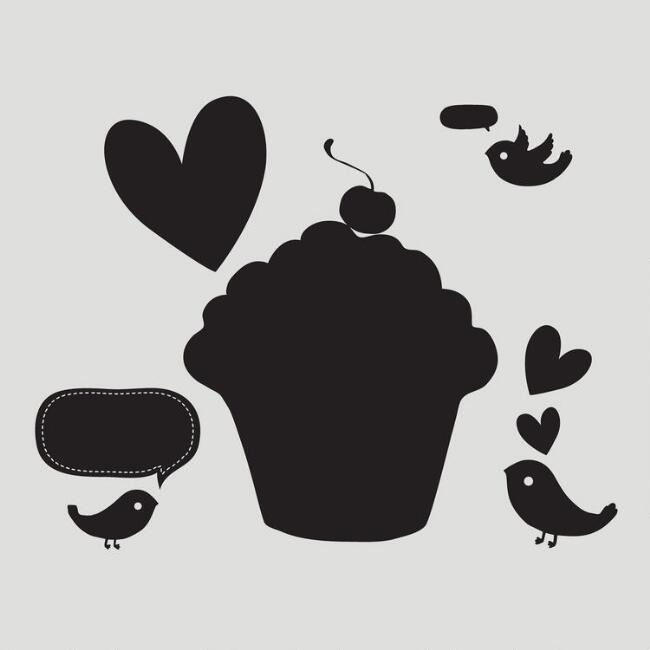 Cupcake Wall Decal & Chalkboard