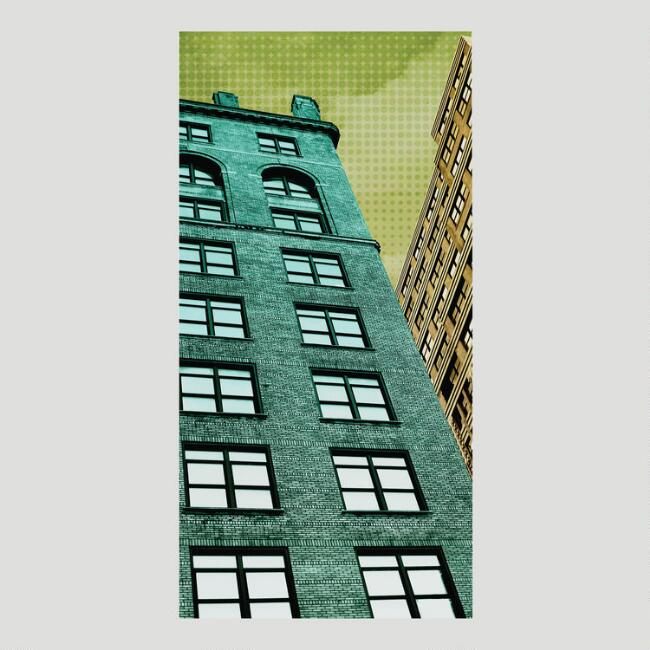 Brownstones Canvas Wall Art Decal
