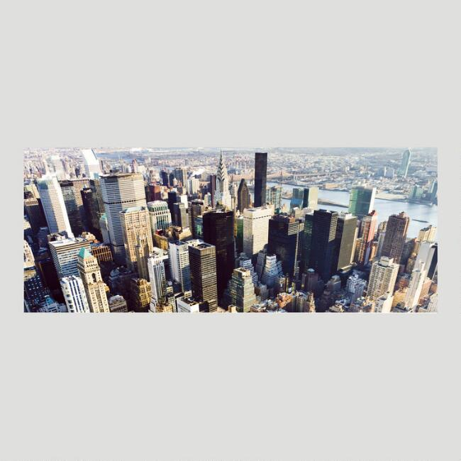 Aerial View Canvas Wall Art Decal