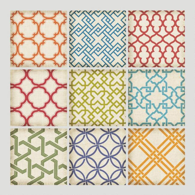 Geometric Tiles Wall Decals