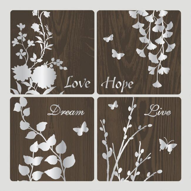 Botanical Reflections Wall Decals