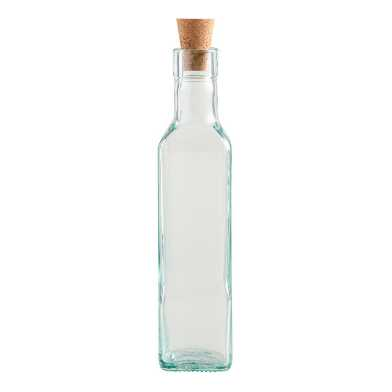 Square Glass Oil Bottle with Cork Set Of 24