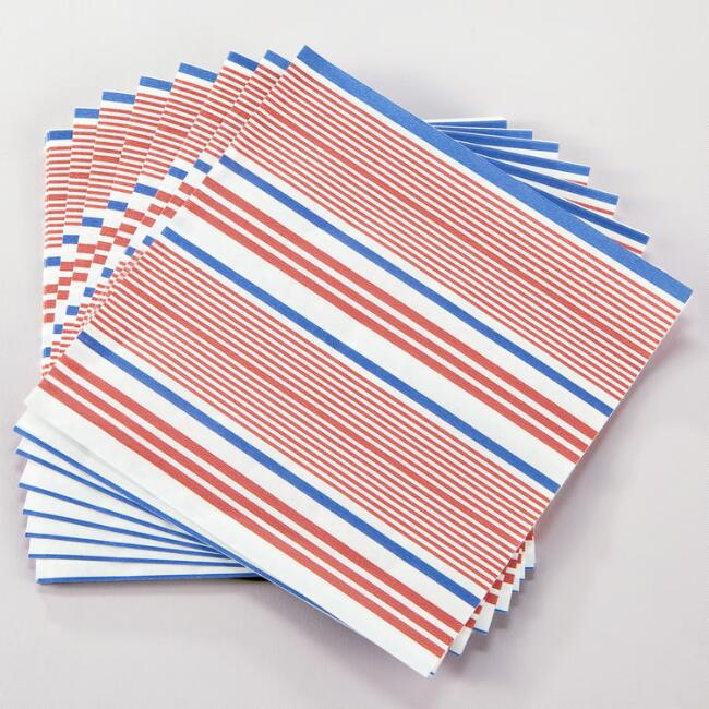 Striped French Fry Liners, Set of 24