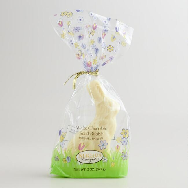 Solid White Chocolate Bunny, Set of 4