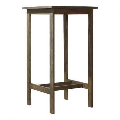 Distressed Gray Wood Thomas Outdoor Pub Dining Table