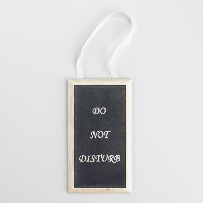 'Do Not Disturb' Bathroom Door Hanger