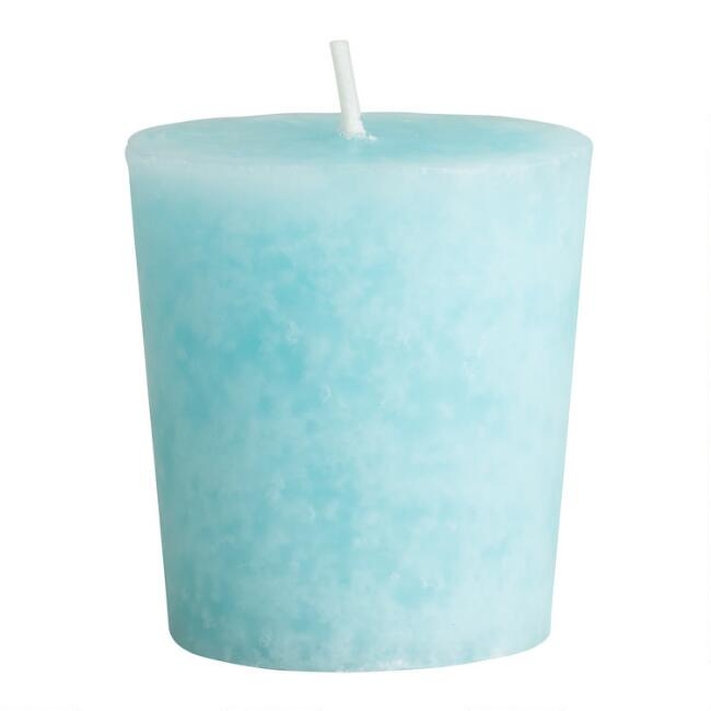 Mediterranean Sea Mottled Votive Candles Set of 12