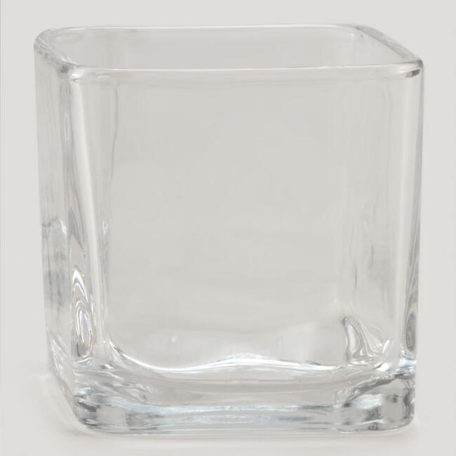 Glass Cube Votive Candle Holder
