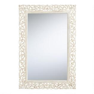 segovia whitewashed mirror - Mirror Frame