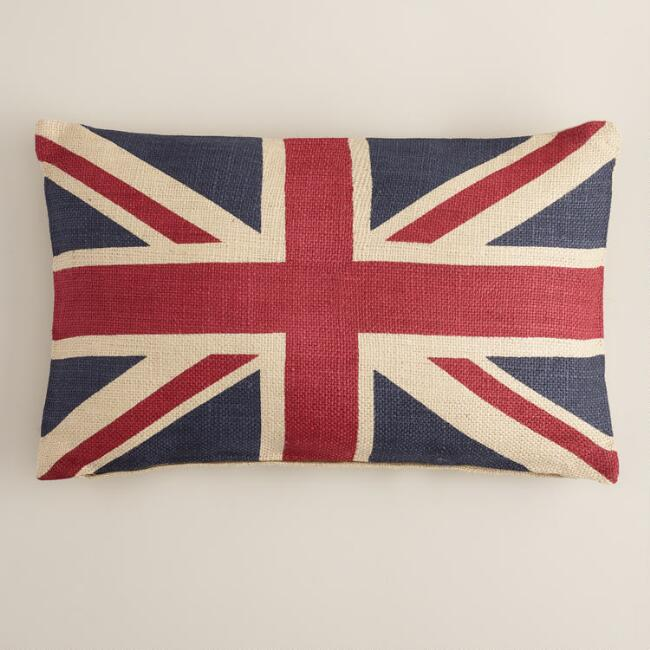 Union Jack Flag Lumbar Pillow