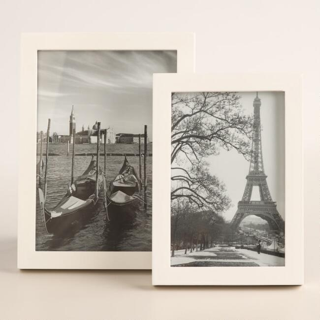 White Lacquer Frame Collection
