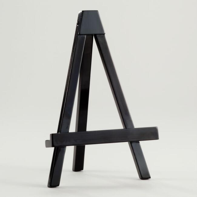black lacquer emery easel frame - Easel For Picture Frame