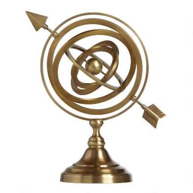 Gold Armillary Sphere Decor