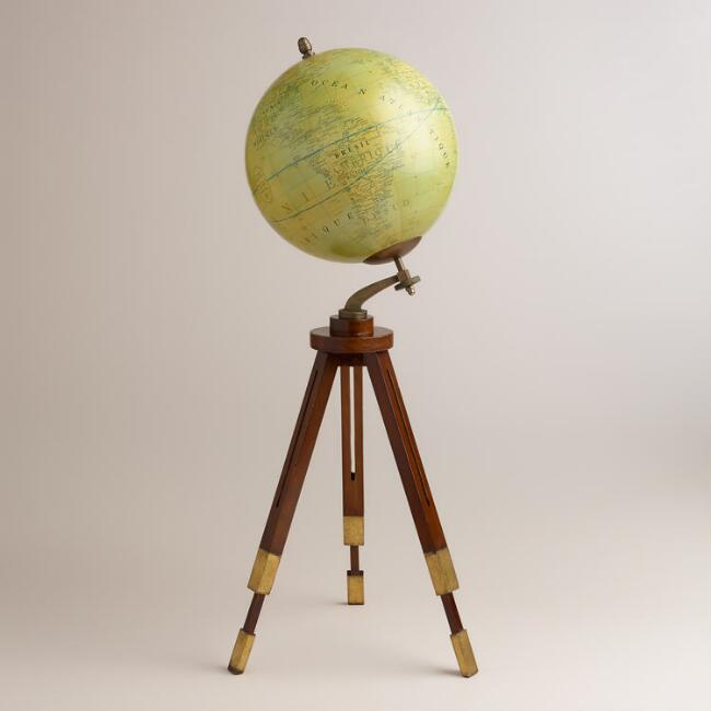 Oversized Globe with Tripod Stand