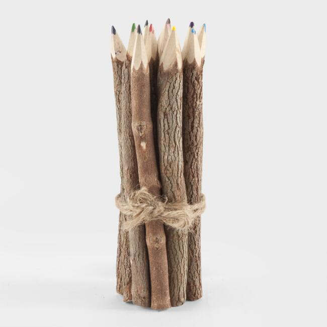 Long Twig Colored Pencils Set Of 12