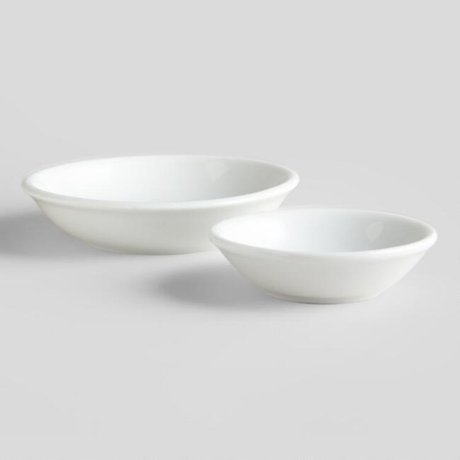 White Sauce Dishes, Set of 4