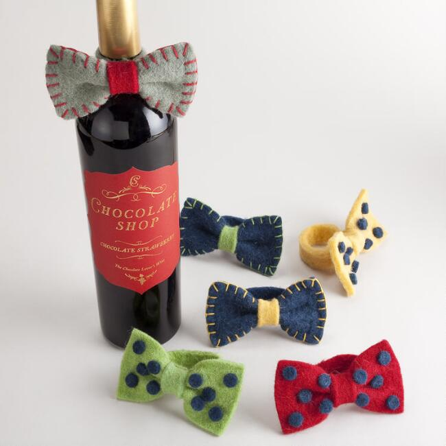Wine Bottle Bow Tie, Set of 2