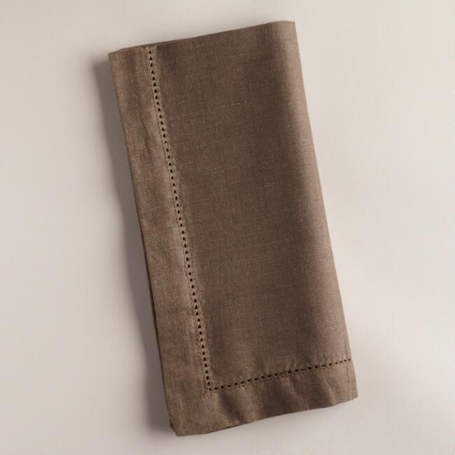 Bark Hemstitch Napkins, Set of 4