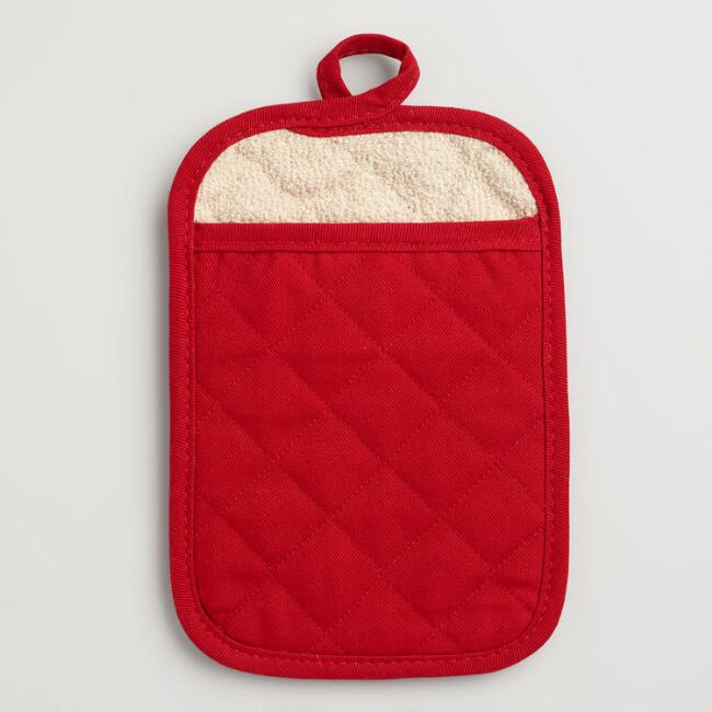 Barn Red Gourmet Classic Terry Potholders Set of 2