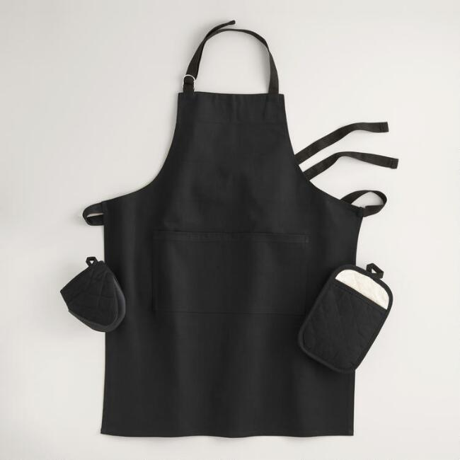 Black Gourmet Classic Kitchen Linen Collection