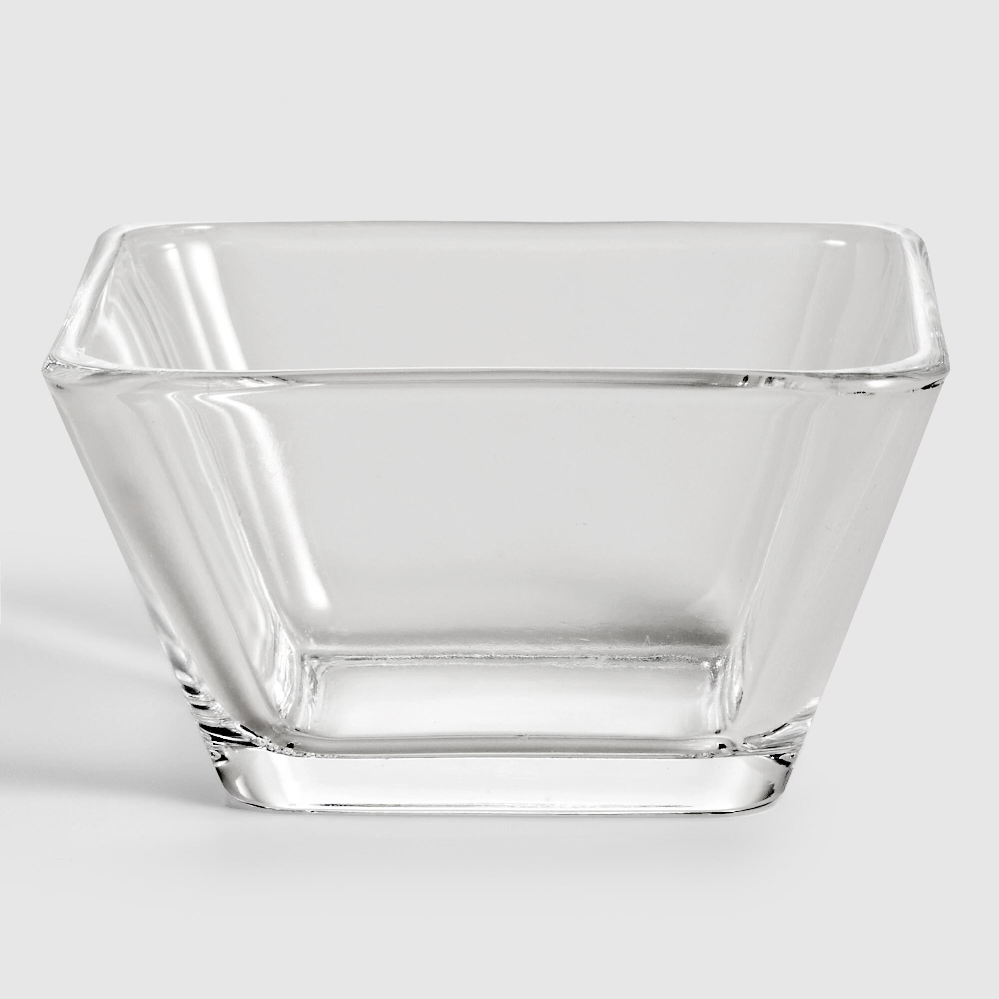 Tempo Square Glass Dipping Bowls, Set of 4 by World Market