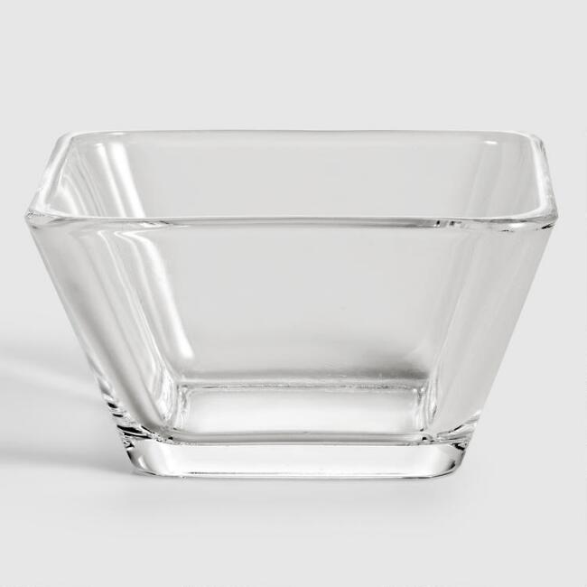 Tempo Square Glass Dipping Bowls, Set of 4
