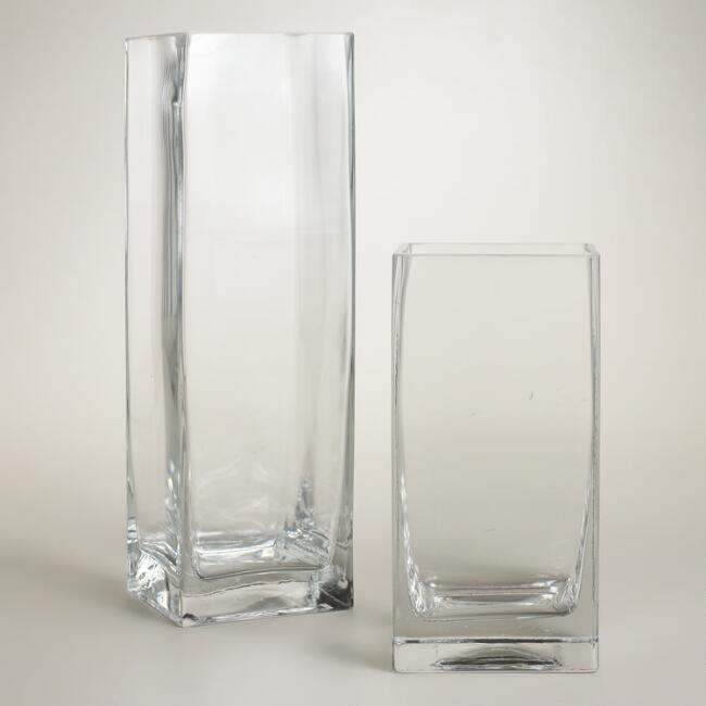 Clear Glass Square Vases World Market