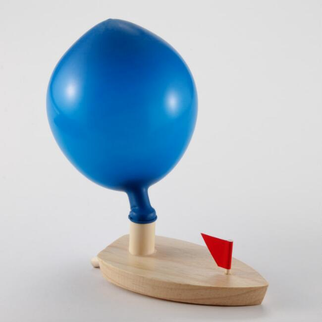 Balloon-Powered Boat Toy