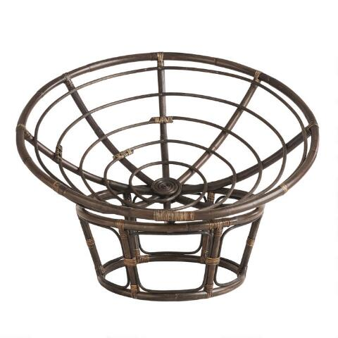 Fine Espresso Rattan Papasan Chair Frame Uwap Interior Chair Design Uwaporg