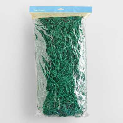 Large Solid Green Excelsior Basket Filler