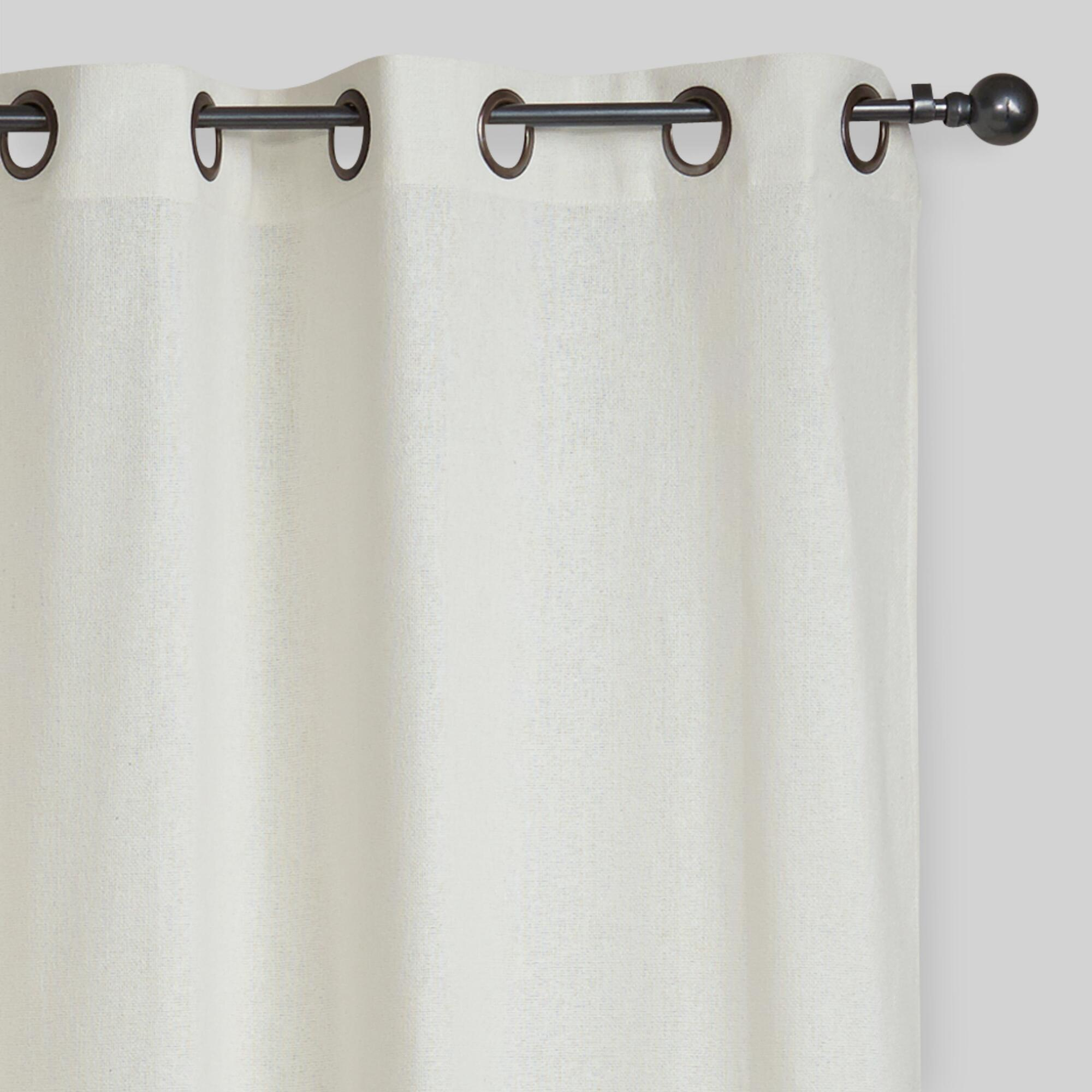 Light pink shower curtain - Ivory Bori Cotton Grommet Top Curtains Set Of 2